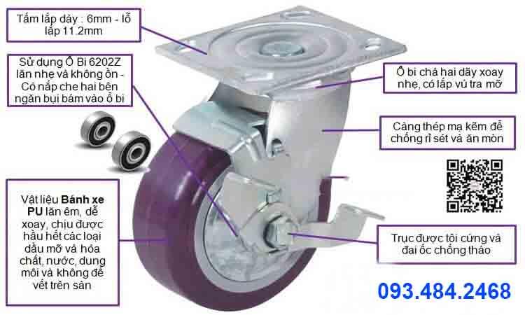 cấu tạo bánh xe giàn giáo